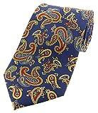 Soprano Corbata con estampado vintage de cachemir en azul