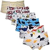 Kidear Ropa Interior Kids Series de algodón Suave para niños pequeños Escritos del Boxeador Clasificados de los Muchachos (Pa