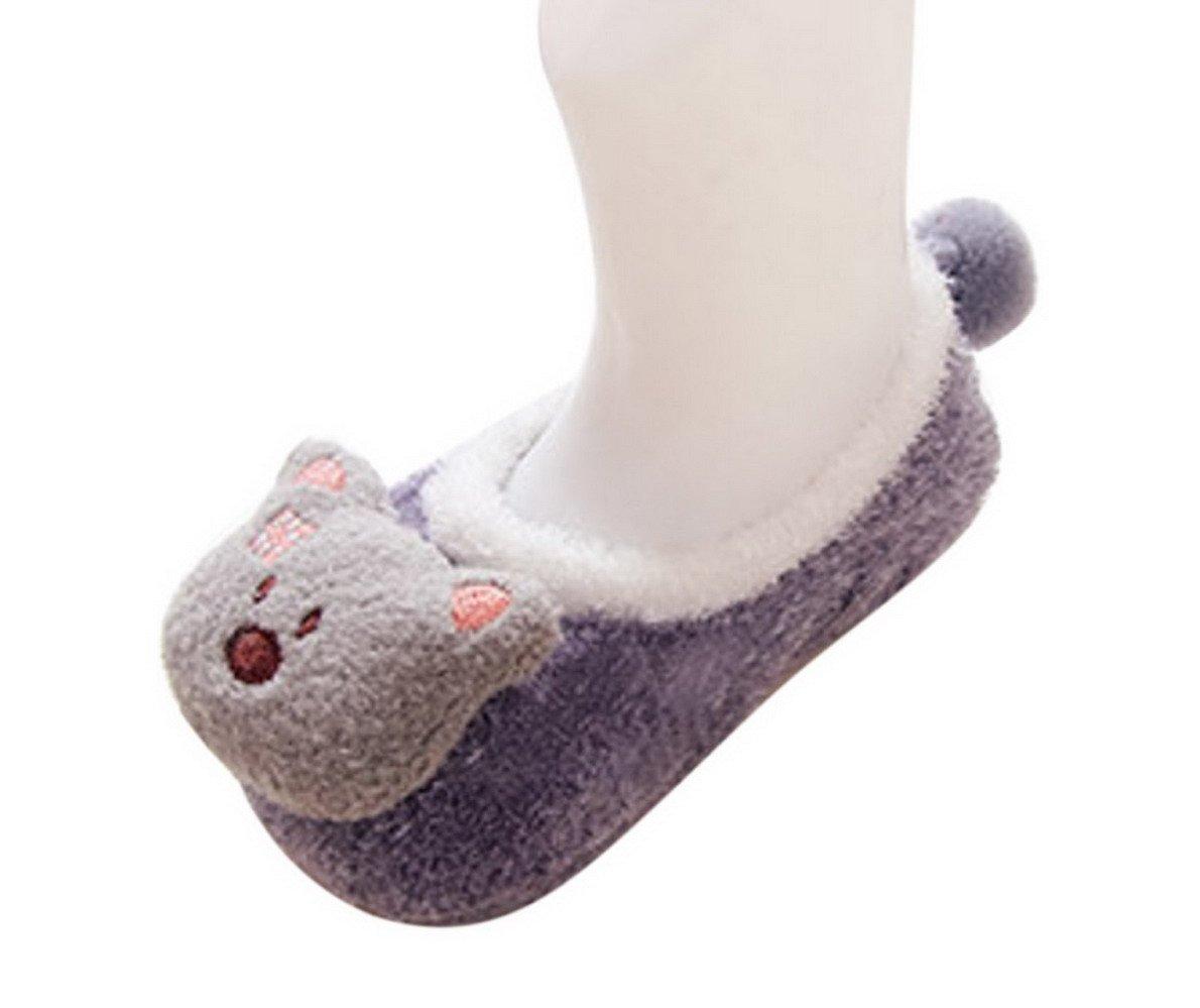 Happy Cherry - 3 Pares de Recién Nacido Calcetines Antideslizantes Primer Paso para Primavera Otoño Zapatillas de Casa… 4