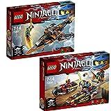 Lego Ninjago 2-tlg. Set 70600 70601 Ninja-Bike Jagd + Luft-Hai