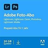 Adobe Creative Cloud Foto-Abo mit 20GB: Photoshop und Lightroom   1 Jahreslizenz   PC/Mac Online Code & Download
