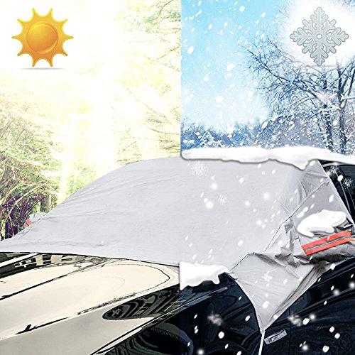 iZoeL Parabrisas sun protect nieve protector solar parabrisas cubierta parasol para el coche auto universal medio coche cubre para hielo Antideslizantes