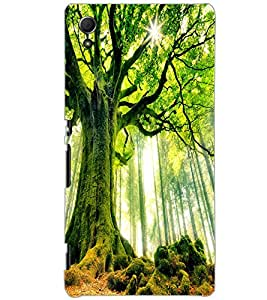 SONY XPERIA Z4 GREEN TREE Back Cover by PRINTSWAG