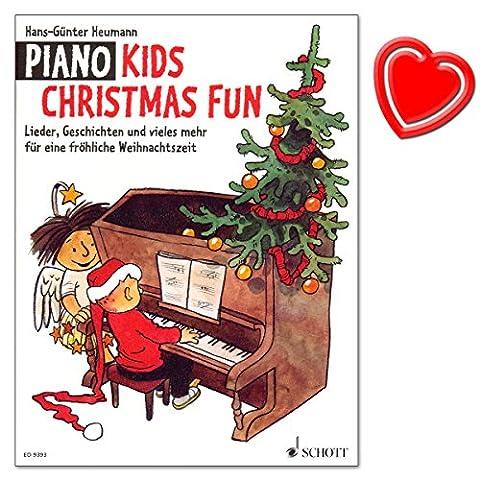 Piano Kids Christmas Fun - Lieder, Geschichten und vieles mehr für eine fröhliche Weihnachtszeit - eine Auswahl schöner alter und moderner Weihnachtslieder - mit bunter herzförmiger