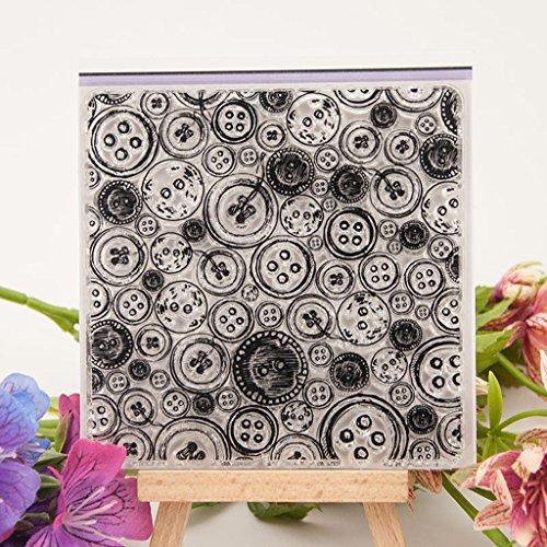 Mentin Hoja Sello de Silicona Transparente para un /álbum de DIY Scrapbooking Photo Card Decor