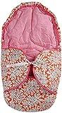 Kokodoo 9501 Babyschale Fussack Zweiseitig Blume, orange
