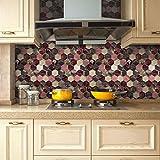 JY ART AYZ Fliesenaufkleber Dekorative Wandgestaltung mit Fliesenaufklebern für Küche und Bad, Deko-Fliesenfolie für Küche u. CZ028, 7, 20cm*5m