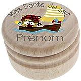 Boite à Dents de Lait en bois - Fabrication française – Personnalisée avec le prénom de l'enfant + Texte personnalisable – de