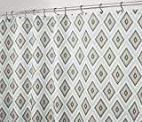 mDesign Duschvorhang mit geometrischem Muster - ideales Badzubehör mit perfekten Maßen: 183 cm x 183 cm - langlebige Duschgardine - taupe