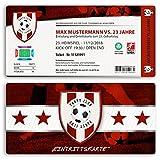 (20 x) Einladungskarten Geburtstag Fussball Kindergeburtstag Ticket Einladungen Rot