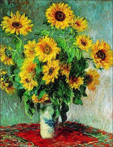'Affiche illustre' und Leinwand Canvas Monet