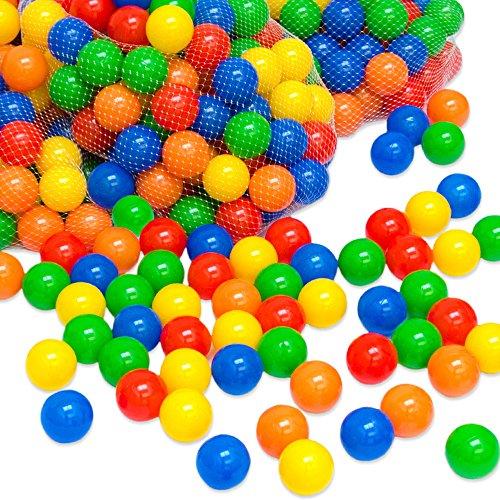 LittleTom 1000 Bällebadbälle Ø 7cm Bälle-Set für Bällebad Bunte Spielbälle Kinder-Bälle für Bällebad-Pool Plastikbälle Babybälle | 5 gemischte Farben Gelb Rot Blau Grün Orange | geprüfte Qualität (Bälle Bällebad 1000)