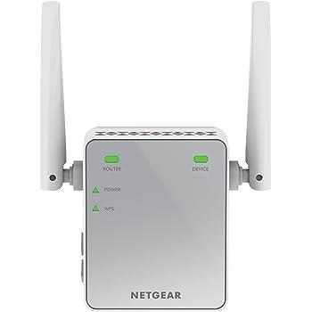 NETGEAR EX2700-100PES AC750 WLAN Repeater (300 Mbit/s, WLAN Verstärker, WPS, 1x Ethernet Port, universell kompatibel mit jedem Router/Modem)