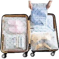 Vankra 10 sacchetti impermeabili da viaggio, in plastica trasparente satinata con chiusura a cerniera, per vestiti…