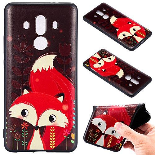 kelman Handyhülle für Huawei Mate 10 Pro Hülle Schutzhülle - Soft Silikon TPU Anti-Rutsch Handyhülle - [roter Fuchs]