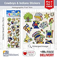 Fun Stickers Cowboys & Indians 836