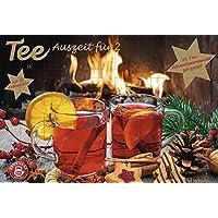 Tee-Adventskalender für Zwei - Pärchen-Adventskalender, 24 Türchen und 50 Aufgussbeutel - 56 x 38 x 2 cm