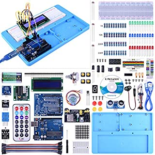 UNIROI Arduino Starter Kit Uno R3 Nano Relay Mega 2560 R3 Breadboard RAB Holder Dht11 Stepper Motor Upgraded Project Free Tutorials UA005