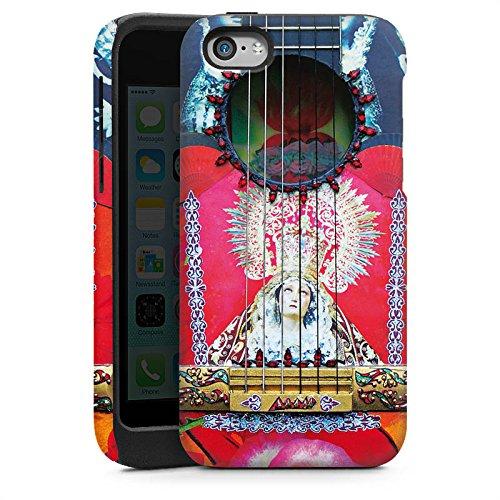 Apple iPhone 4 Housse Étui Silicone Coque Protection Guitare Rouge Espagne Cas Tough brillant