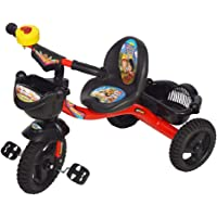 Amit Happy Rider Baby Tricycle Hilton Bajaj with Seat Belt for Kids Black Color (2 Years - 9 Years)