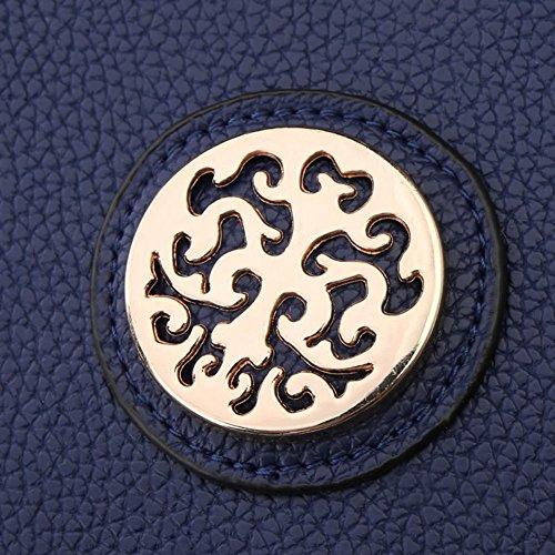Singola borsa delle donne di modo delle Messenger Bag borsa donne 2 Pezzi Azzurro Blu marino