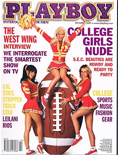 US Playboy Magazin Oktober 2001 Zeitschrift Original Ausgabe USA 10/2001 Stephanie Heinrich Girls of SEC, Leilani Rios cast of The West Wing: Martin Sheen, Rob Lowe, Aaron Sorkin, John Wells, Thomas Schlamme, Pat Caddell, John Spencer, Bradley Whitford, Janel Moloney, Allison Janney, Richard Schiff and Dule Hill Marg Helgenberger