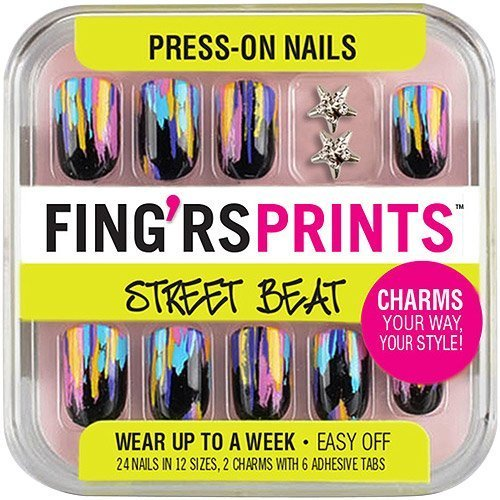 Fingrs Prints Street Beat Haute Mess Press-on Nails (Pack of 2) by Fing'rs