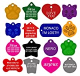 CNATTAGS Dog ID Tags Personalized | Many Shapes to Choose From| 8 Color