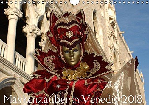 Maskenzauber in Venedig 2018 (Wandkalender 2018 DIN A4 quer): Faszination der venezianischen Masken (Monatskalender, 14 Seiten ) (CALVENDO Kunst) [Kalender] [Apr 01, 2017] Jordan, Diane
