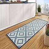 Hanse Home 102673 Teppichläufer, Polyamid, blau / creme, 67 x 180 x 0.8 cm