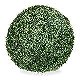 Relaxdays Artificiel, Plante de décoration Ronde, buis sphérique, Plastique, résistant, Divers Taille, Vert, 48 cm, 46 cm