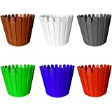 Go Hooked Plastic Garden Fence Pot for Home Decor Garden Décor - Set of 6 (11inch, Multicolor)