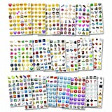 German Trendseller® - emoji sticker┃ 960 autocollantes d'emoticons ┃ portable smiley┃icon┃ facebook┃ instagram┃ twitter┃ whatsapp