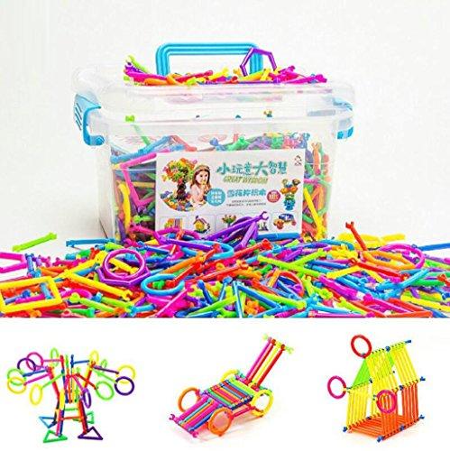 HJXJXJX Smart Puzzle Brick Woods Puzzle Puzzle Toys Plastic Desktop Mosaic Rings