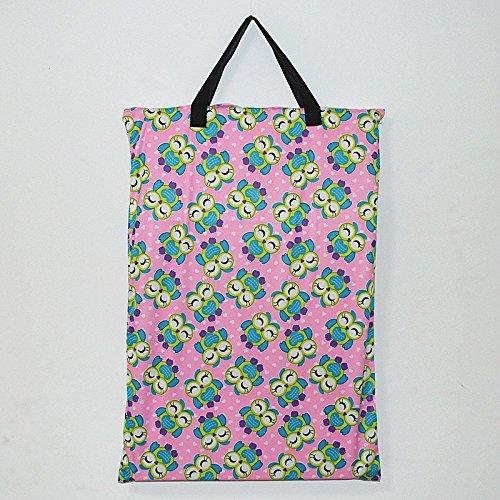 Groß zum Aufhängen Nass/Trocken Tuch Windel, die Sie Tasche für Wiederverwendbare Windeln oder Wäschebox Smile owl