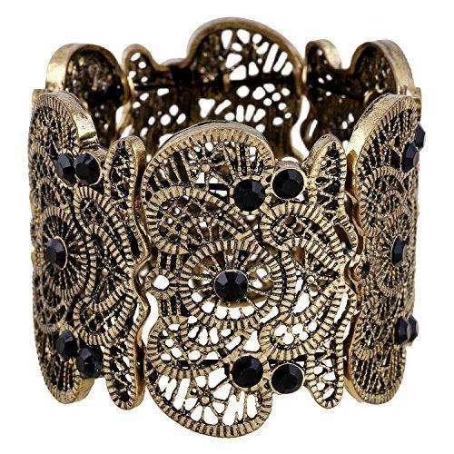 Für immer & Moment Vintage Metal Filigree Stretch Armreif Armband Für Frauen 20 cm(Anti (Kostüme Verkauf Et Zum)