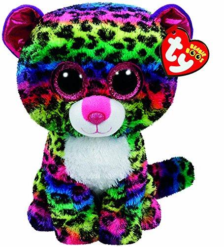 Carl etto TY 37074-Dotty, Leopard con occhi brillanti, Glub schis, Beanie Boos, 24cm, Multicolore