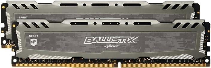 Ballistix Sport LT BLS2C4G4D240FSB Kit Memoria da 8 GB (4 GB x 2), DDR4, 2400 MT/s, PC4-19200, SR x8, DIMM, 288-Pin, Grigio