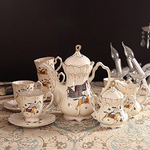 ZHGI Set caffè un pomeriggio di lusso di alta qualità di caffè in ceramica set mug bone china set da tè ,un