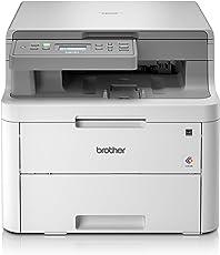 Brother DCP-L3510CDW Kompaktes 3-in-1 Farb-Multifunktionsgerät, weiß