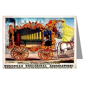 Nota Carta Set di un manifesto del circo con cavallo circo carrello e Calliope C1874