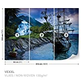 DekoShop Vlies Fototapete Tapete Vliestapete Shiff Piraten AD2051VEXXL (312cm x 219cm) Photo Wallpaper Mural