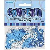 Unique Party - 55210 - Confettis - Happy Birthday - Bleu Glitz