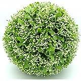 GUI Boule Gui plastique plante la boule Plante artificielle Ø 25,35,40cm décoratif pour intérieur et extérieur nouveauté 35cm vert