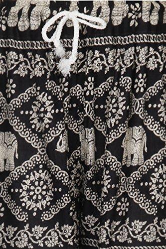 HAREM HOS'ALADDIN HIPPIE-HOSE MIT KORDEL ZUM ZUZIEHEN - Elephant Black