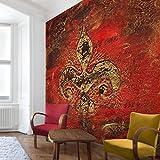 Apalis Vliestapete Secret in Patina Fototapete Quadrat | Vlies Tapete Wandtapete Wandbild Foto 3D Fototapete für Schlafzimmer Wohnzimmer Küche | Größe: 240x240 cm, rot, 95453