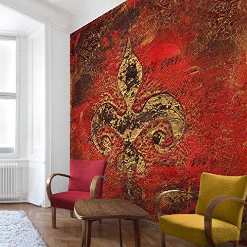 Apalis Vliestapete Secret in Patina Fototapete Quadrat | Vlies Tapete Wandtapete Wandbild Foto 3D Fototapete für Schlafzimmer Wohnzimmer Küche | Größe: 336x336 cm, rot, 95453