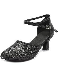 CFP - Zapatillas de danza de malla para mujer Dorado dorado
