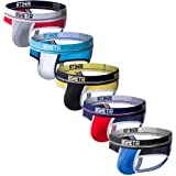 BSHETR Men's Jockstraps Athletic Supporters 5-Pack Ultra Soft Daily Sports Underwear