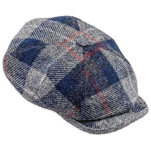 Sterkowski Harris Tweed Schiebermütze 4 Panel Applejack Schlägermütze Flat Cap 59 Mehrfarbig (Herren Vintage Tweed Harris)